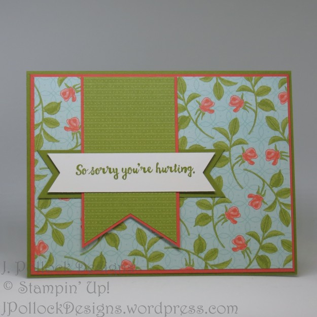 J. Pollock Designs - Stampin' Up! - Here For You, Petal Garden Designer Series Paper